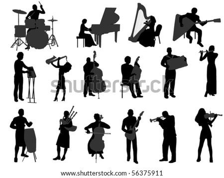 musician vector - stock vector