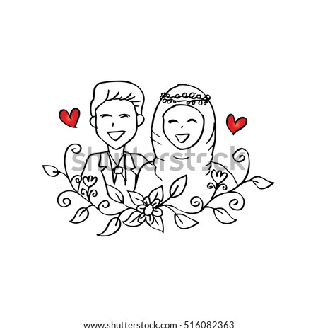 Muslim Couple Wedding Card