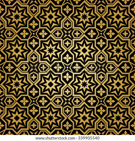 Muslim seamless pattern. Background ornament, islamic abstract design,  decoration ornamental, vector illustration