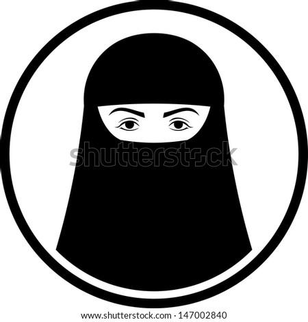 Muslim Burka Clip Art