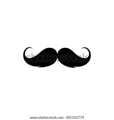 Mustache. Black simple vector icon - stock vector