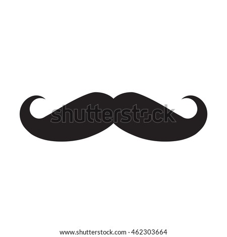 Mustache icon isolated on white background. Vector art.