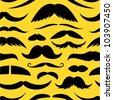 Mustache seamless pattern. - stock vector
