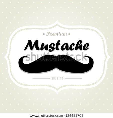 Mustache. Vector. - stock vector
