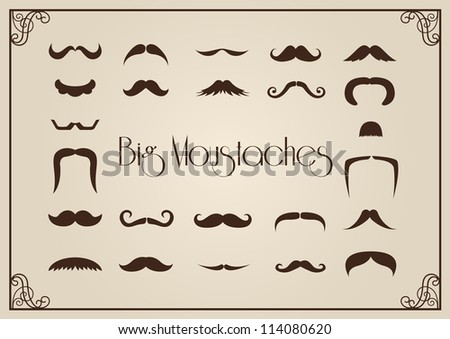 Mustaches collection - stock vector