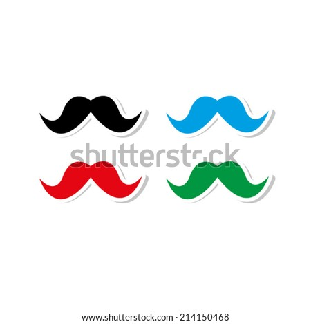 Mustaches - icon vector - stock vector