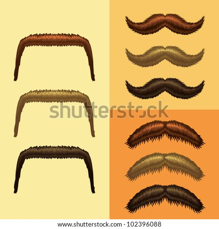 mustaches-part 4 - stock vector
