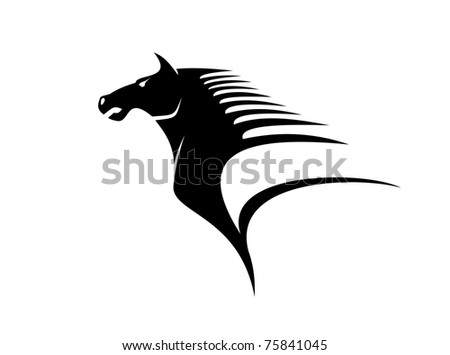 Mustang symbol or logo template. Jpeg version also available in gallery - stock vector