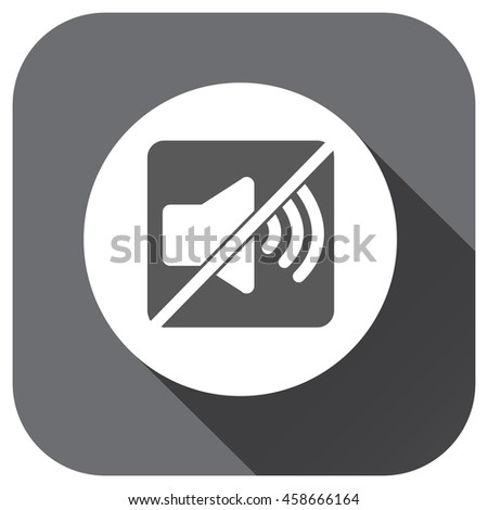 Mute sound icon, silent symbol for your design, logo, application, UI, website