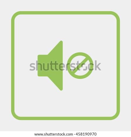 Mute speaker icon. - stock vector