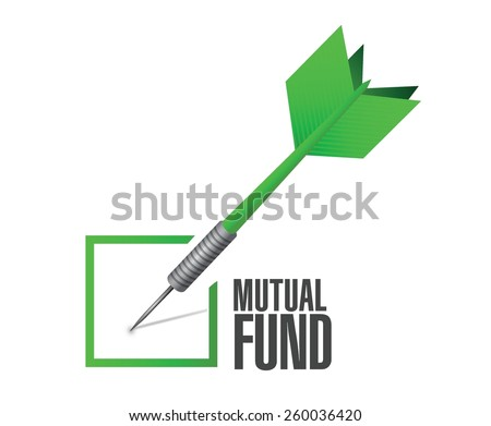 mutual fund check dart illustration design over a white background