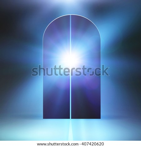 Mystic portal to the universe with a star shine. Vector illustration
