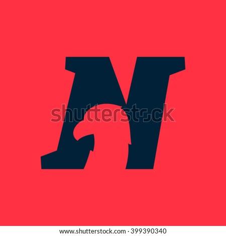 N letter logo eagle negative space stock vector royalty free n letter logo with eagle negative space font style vector design template elements for altavistaventures Gallery