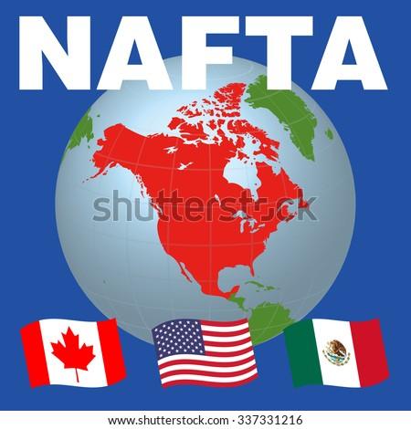 Nafta North American Free Trade Agreement Stock Vector Hd Royalty