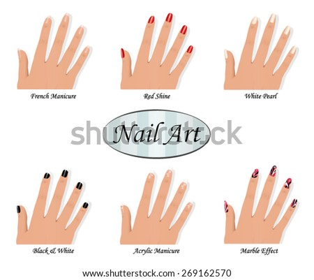 Seamless hand pattern on white background stock vector 326306531 nail art catalog prinsesfo Gallery