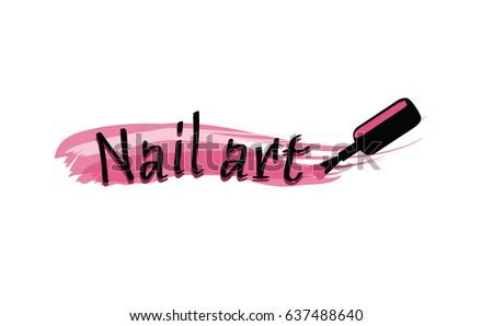 Nail Art Logo Design Stock Vector Royalty Free 637488640