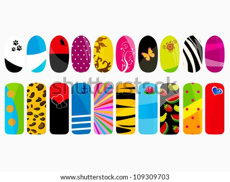 Nail art stock images royalty free images vectors shutterstock nail designs prinsesfo Choice Image