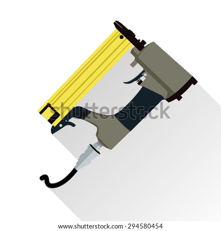 Nail gun stock images royalty free images vectors shutterstock nail gun vector isolated on white background with long shadow prinsesfo Image collections