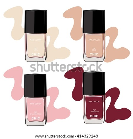 Nail polish, beauty vector  - stock vector