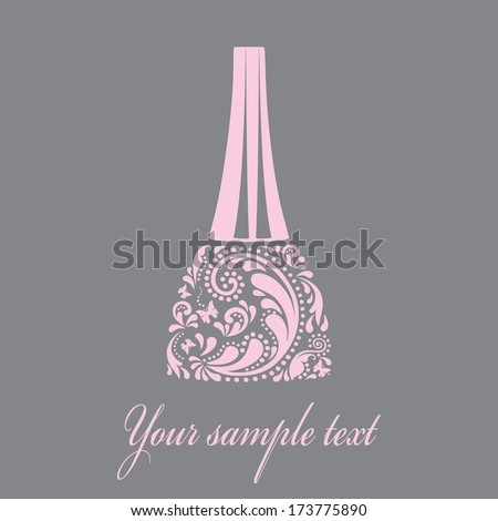 Nail polish made from the leaf pattern. Vector EPS10 illustration. - stock vector