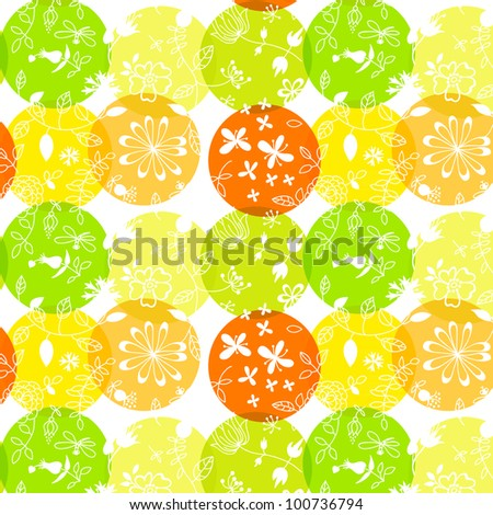 Naive floral seamless pattern - stock vector
