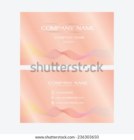 Name Card Business Abstract Background Vector Illustration