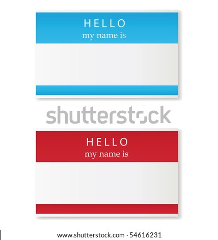 name tag - stock vector