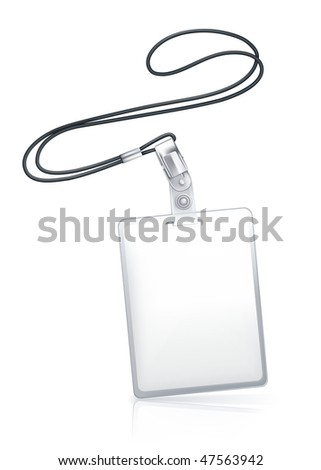 Name Tag, vertical