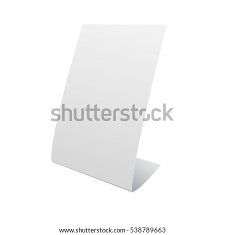 nameplate stand banner on white background stock vector 538789663