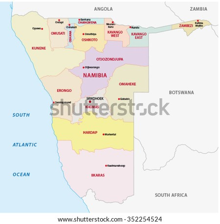 Namibia Map Stock Images RoyaltyFree Images Vectors Shutterstock - Namibia map