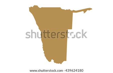 Namibia map - stock vector