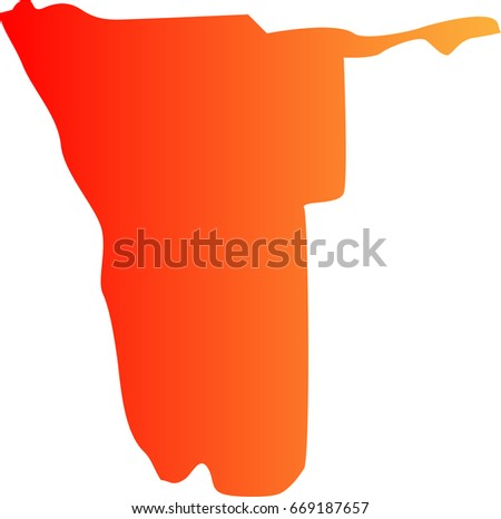 Map Of Namibia Stock Images RoyaltyFree Images Vectors - Namibia map