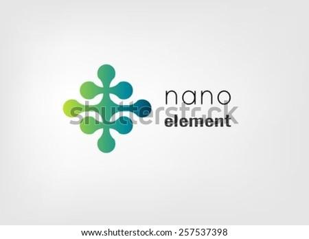 Nano element vector logo design template - stock vector