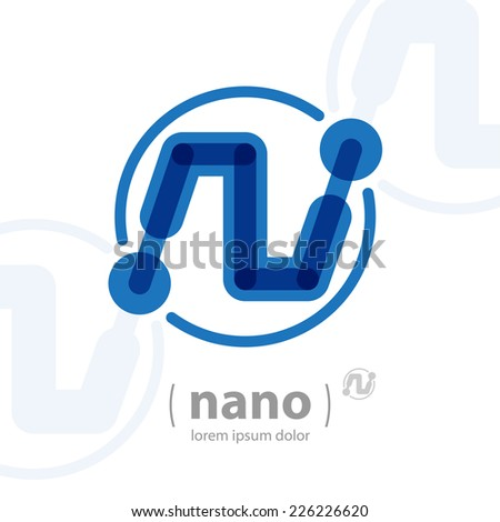 Nano technology logo template. Future hi-tech icon. Vector Electronics concept. - stock vector