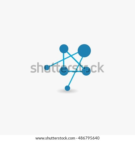 Nanotechnology. Template design of logo. Vector illustration.