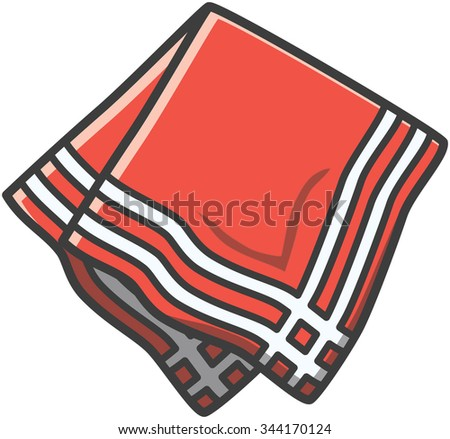 Napkin vector cartoon illustration
