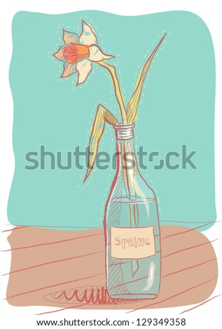 Narcissus in a bottle