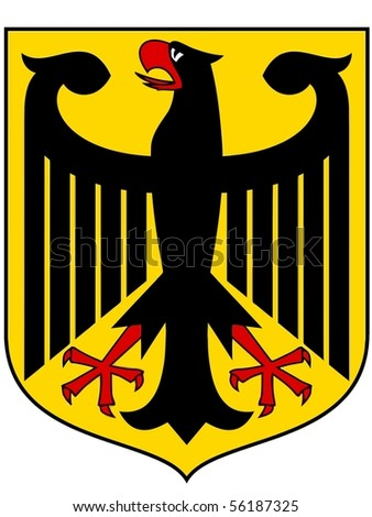 national arms of Germany - stock vector