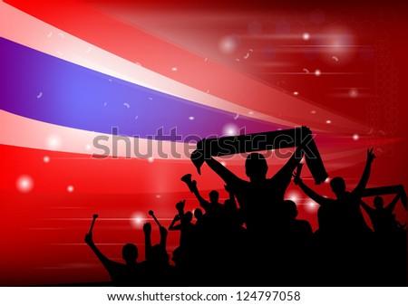National Celebration Vector Thailand - stock vector