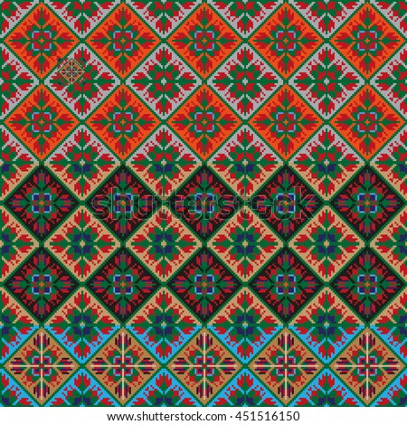 national embroidery picture pattern, among the Slavic peoples
