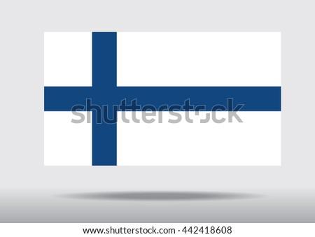 National flag Finland Vector - stock vector