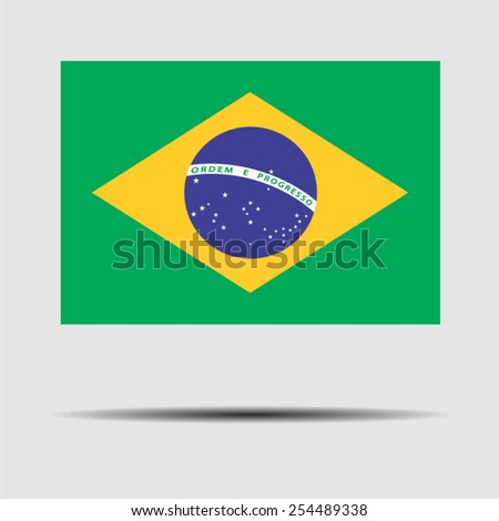 National flag of Brazil - stock vector