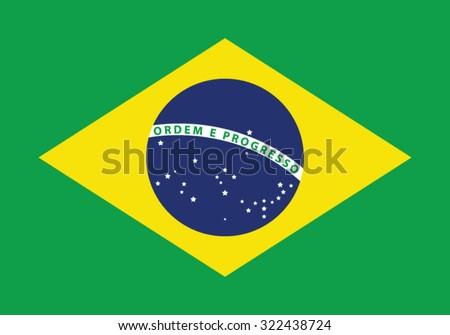 National Flag of Brazil - stock vector