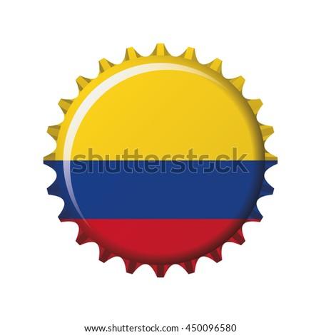 national flag colombia on bottle cap stock vector 450096580 rh shutterstock com bottle cap vector art beer bottle cap vector free