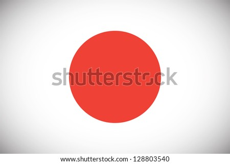National flag of Japan with correct proportions and color scheme - stock vector