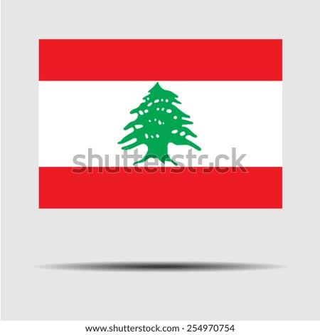 National flag of Lebanon - stock vector