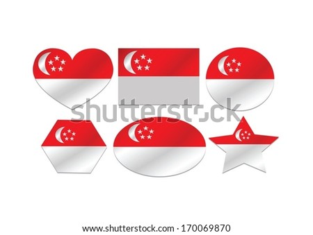 National flag of Singapore themes idea design