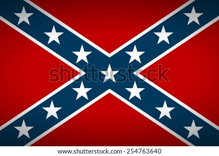 National flag of the Confederate States of America - vector illustration. - stock vector