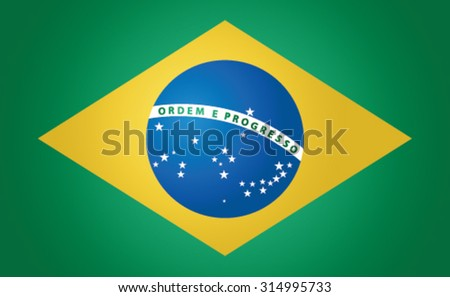 National flag of the Federative Republic of Brazil
