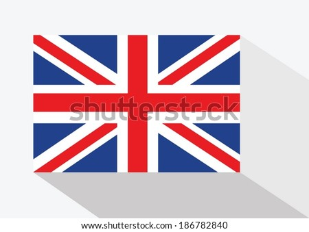 National flag of UK , the United Kingdom of Great Britain and Northern Ireland idea design - stock vector